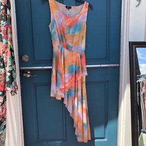 Sheer multi colored tank dress